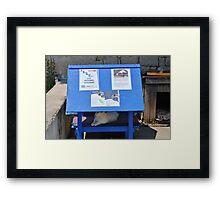 Cat feeding station, Paxos Framed Print