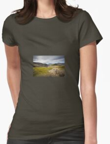 Walking Up Snowdon Womens Fitted T-Shirt