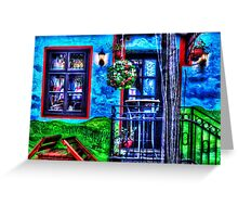 Colored Restaurant Facade Skadarlija Belgrade  Greeting Card