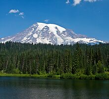 Mt. Rainier at Reflection Lake by Barb White