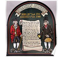 Sign outside Deacon Brodies Tavern, Edinburgh. Poster