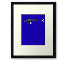 Gun with daisy  Framed Print