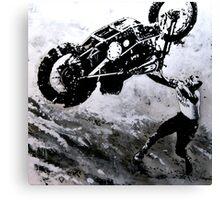 Uphill Rider Canvas Print
