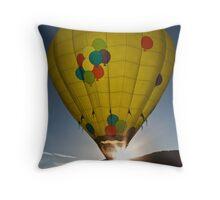 balloon yellow sunstar Throw Pillow