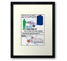 Ninth Doctor was Fantastic Framed Print