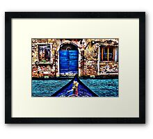 Venice Gondola Fine Art Print Framed Print