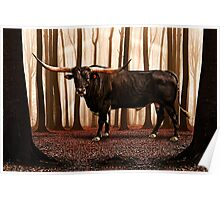 The Lonely Bull Fine Art Print Poster