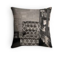 The absent book worm Throw Pillow