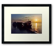 Black River Sunset Framed Print
