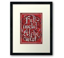 Fullmetal Alchemist Typography Framed Print