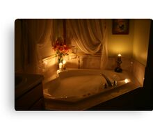 Candlelight Bath Canvas Print
