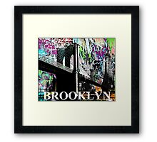 Brooklyn graffiti Framed Print