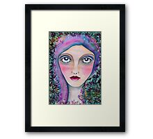 She had the stars and the moon in her eyes... Framed Print
