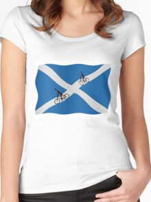 Scottish cycling Women's Fitted Scoop T-Shirt