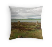 The Ring of Brodgar and The Loch of Harray Throw Pillow