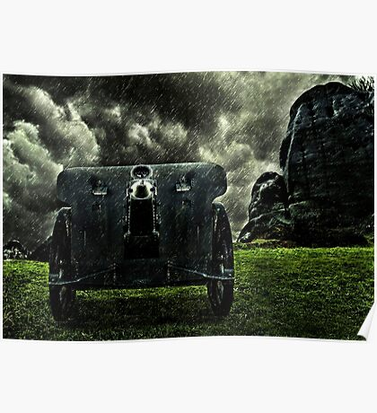 Vintage Cannon Feldhaubitze Poster