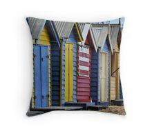 Brighton Beach Houses Throw Pillow