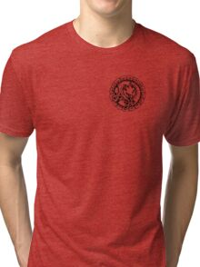 JoJo's Bizzare Adventure - Funny Valentine (Badge) Tri-blend T-Shirt