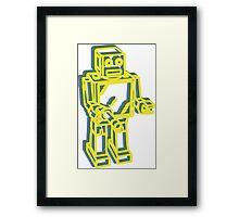 Robot Pop Art Graphic Framed Print