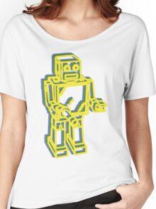 Robot Pop Art Graphic Women's Relaxed Fit T-Shirt