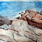 The South Ledges, Appledore, study of the original by Childe Hassam by Beth A