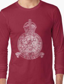 75(NZ) Squadron RAF Crest - Vintage White Long Sleeve T-Shirt