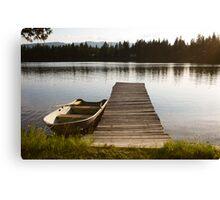 Row Boat on Savage Lake, MT Canvas Print
