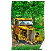 old lumber truck In HDR Poster