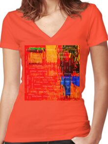 SCARF 3030 Women's Fitted V-Neck T-Shirt