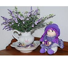 Lady Lavender Photographic Print
