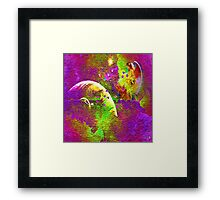 """ Love is a light come from the sky, a spark of the immortal fire which the angels share. "" Framed Print"