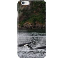 Orcas Surface in Active Pass Gulf Islands iPhone Case/Skin