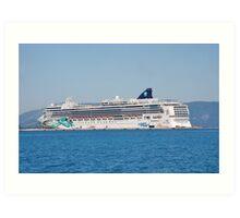 Norwegian Jade liner, Corfu Art Print
