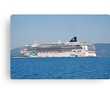 Norwegian Jade liner, Corfu Canvas Print