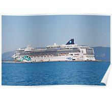 Norwegian Jade liner, Corfu Poster