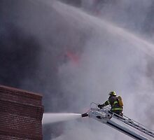 Putting the Wet Stuff on the Hot Stuff by Fireman