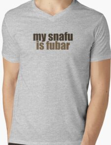snafu Mens V-Neck T-Shirt
