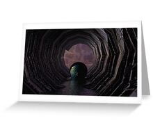 Down the Cosmic Sewer Greeting Card
