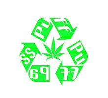 Recycle PuFF PuFF PaSS Photographic Print
