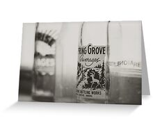 Vintage Bottles Greeting Card
