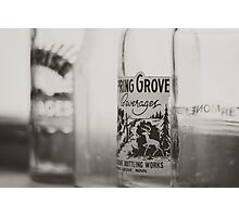 Vintage Bottles Photographic Print