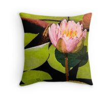 Water Lily Series II Throw Pillow