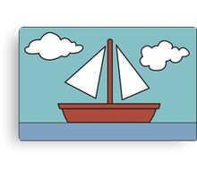 Simpsons Sailboat Painting Canvas Print