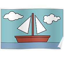 Simpsons Sailboat Painting Poster