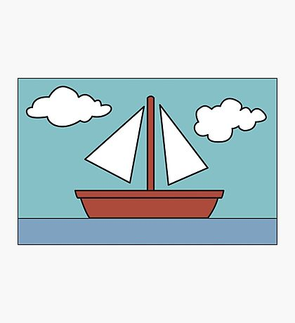 Simpsons Sailboat Painting Photographic Print