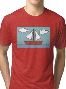 Simpsons Sailboat Painting Tri-blend T-Shirt