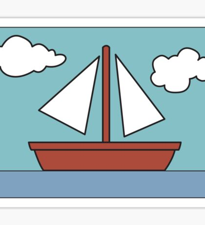 Simpsons Sailboat Painting Sticker