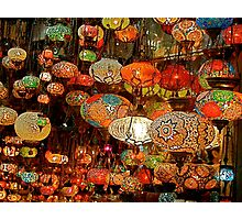 Lanterns in the Grand Bazaar, Istanbul Photographic Print