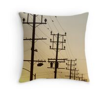 Sunset view from home ELA Throw Pillow