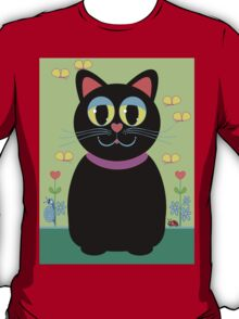 Cat, Butterflies, Lady Bug and a Snail T-Shirt